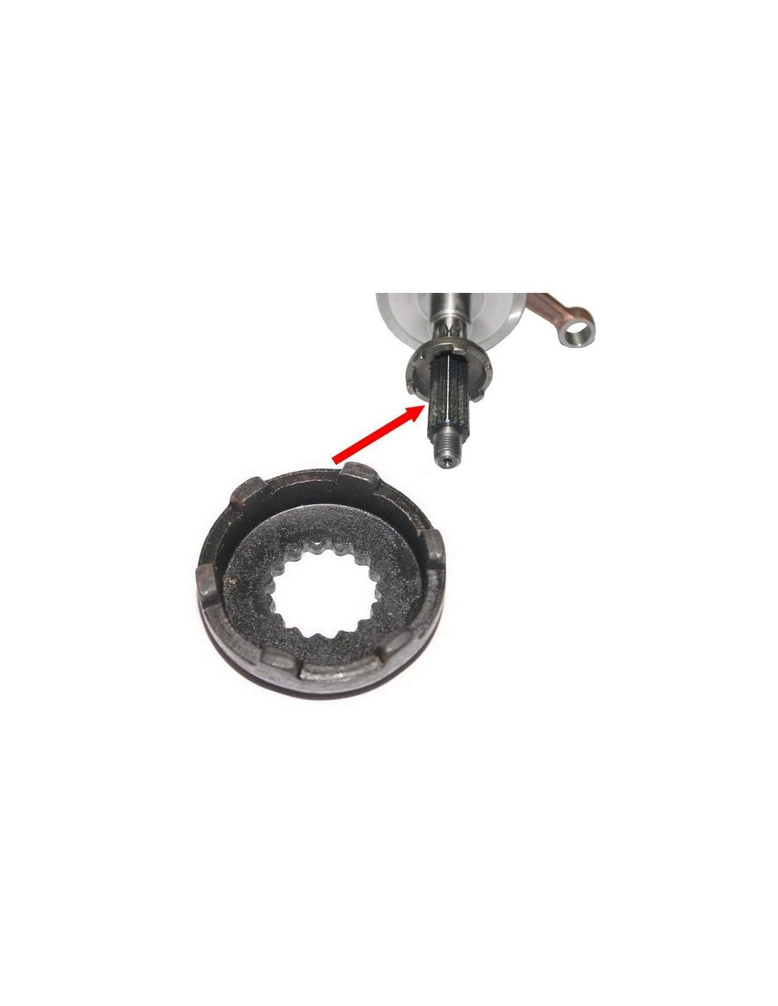 zębatka rozrusznika na czop walu 16mm ( 15 frezów )