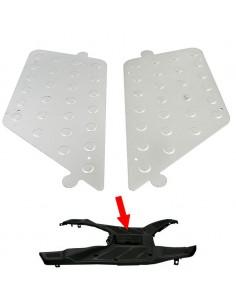Aluminiowe osłony podłogi do skuterów .