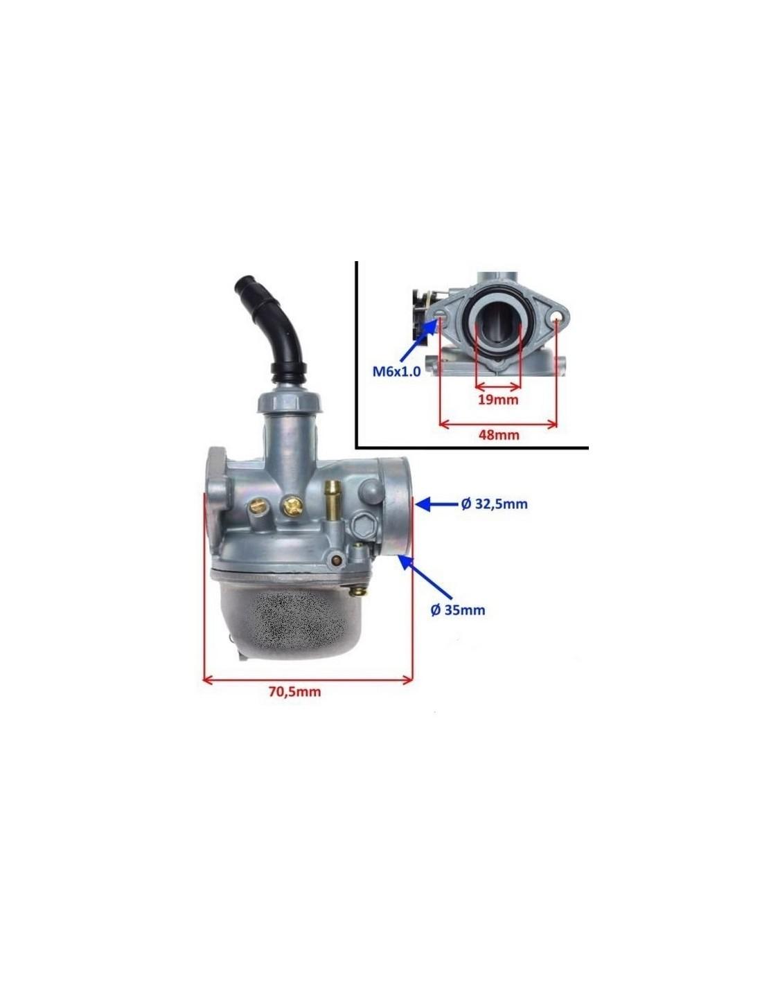 Gaźnik quad 50 -125 na ssanie ręczne